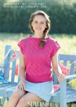 Sirdar Wash 'n Wear Double Crepe - 7038 Summer Top Knitting Pattern